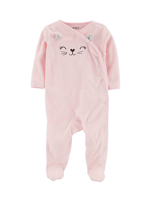 Carter's® Baby Girls Pink Cat Sleep and Play