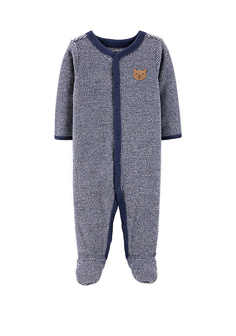 Carter's® Baby Boys Striped Bear Snap Footie