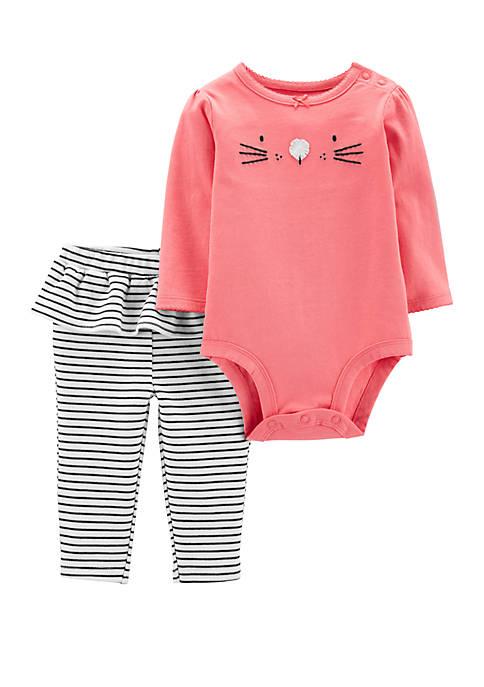 Carter's® Baby Girls 2 Piece Bunny Bodysuit and