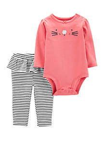 Carter's® Baby Girls 2 Piece Bunny Bodysuit and Pants Set