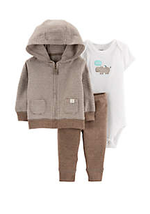 Carter's® Baby Boys 3 Piece Hippo Little Jacket Set