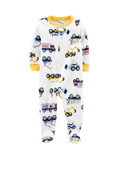 Carter's® Baby Boys Construction Print Coveralls