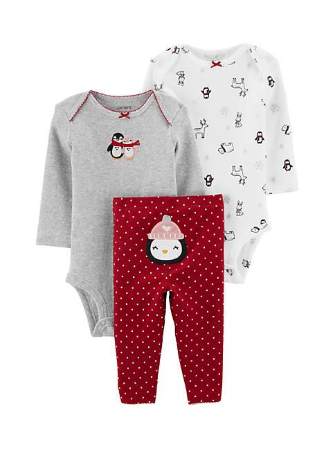 Carter's® Baby Girls 3 Piece Penguin Little Character