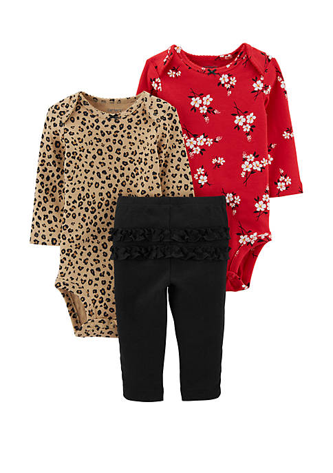 Carter's® Baby Girls 3 Piece Leopard & Floral