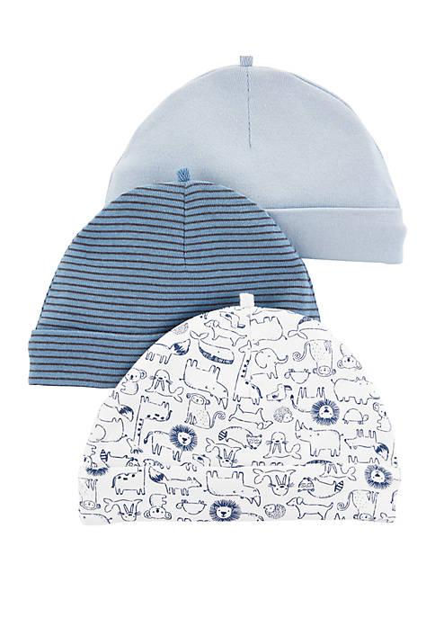 Baby Boys Set of 3 Caps