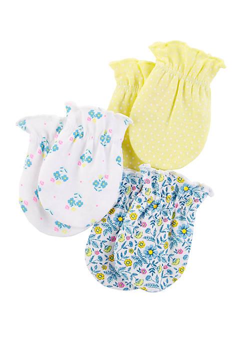Carter's® Baby Girls Mittens Set