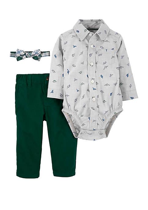 Carter's® Baby Boys 3 Piece Dinosaur Dress Me