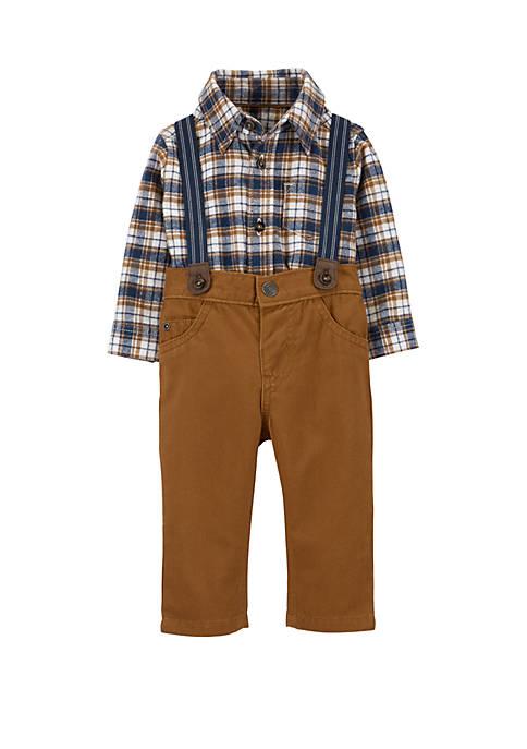 Carter's® Baby Boys 3 Piece Plaid Dress Me