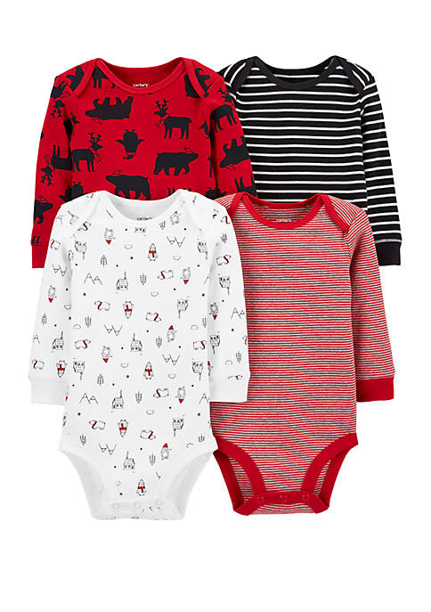 Carter's® Baby Boys 4 Pack Holiday Original Bodysuits