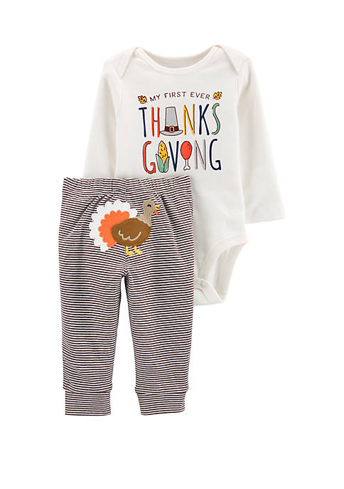 Carter's® Baby Girls 2 Piece Thanksgiving Bodysuit and