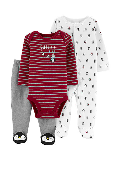 Carter's® Baby Boys 3 Piece Penguin Bodysuit and