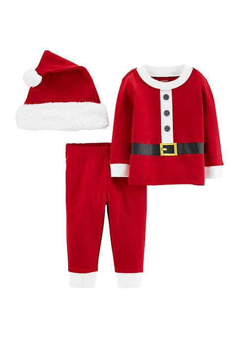 Carter's® Baby Boys 3 Piece Santa Suit Outfit