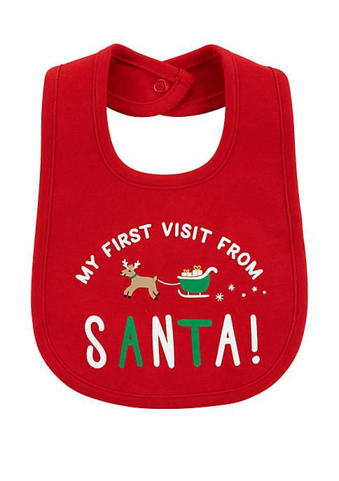 Baby First Christmas Teething Bib