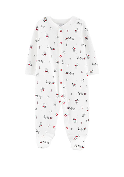 Carter's® Baby Boys Christmas Print Snap Up Thermal