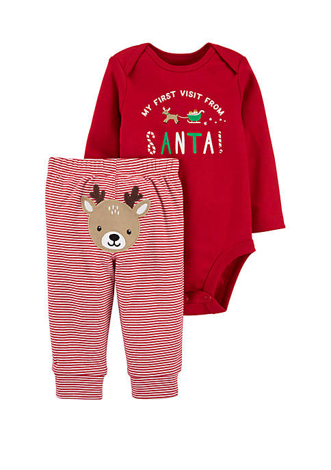Carter's® Baby Girls 2 Piece Christmas Bodysuit and