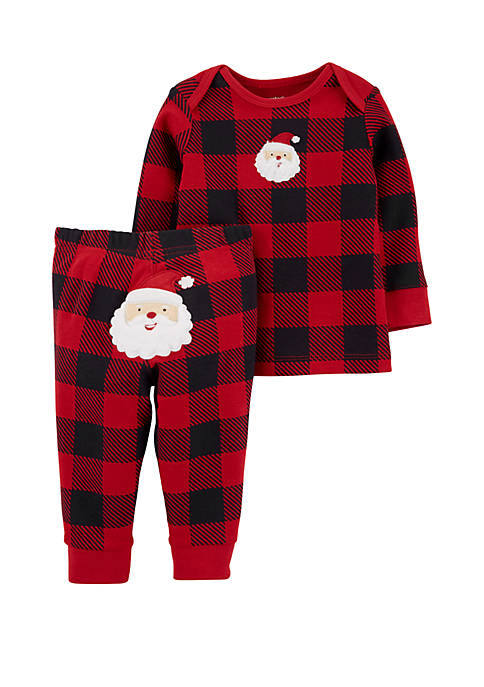 Carter's® Baby Boys 2 Piece Buffalo Check Top