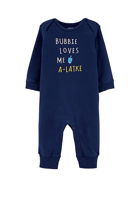 Carter's® Baby Girl Bubbie Latke Jumpsuit