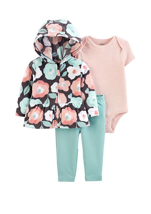 Carter's® Baby Girls 3 Piece Floral Cardigan Set