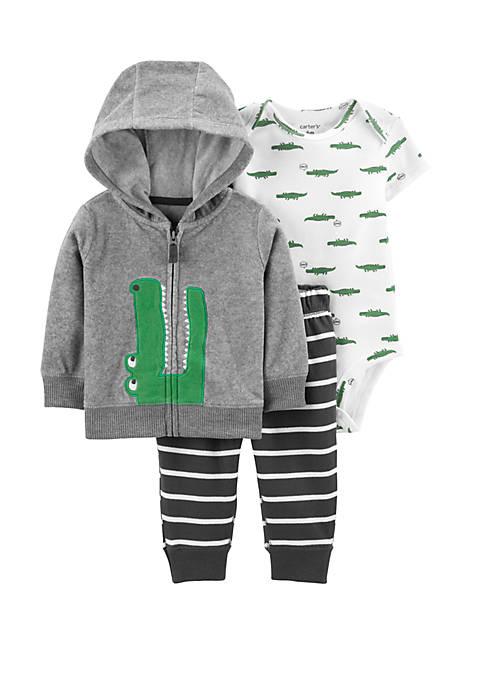 Carter's® Baby Boys 3 Piece Alligator Little Jacket