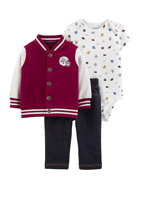 Carter's® Baby Boys 3 Piece Varsity Little Jacket