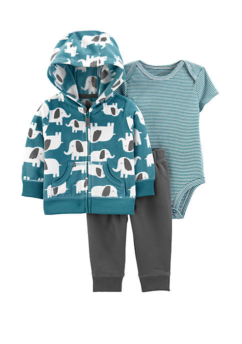 Carter's® Baby Boys 3 Piece Elephant Little Jacket