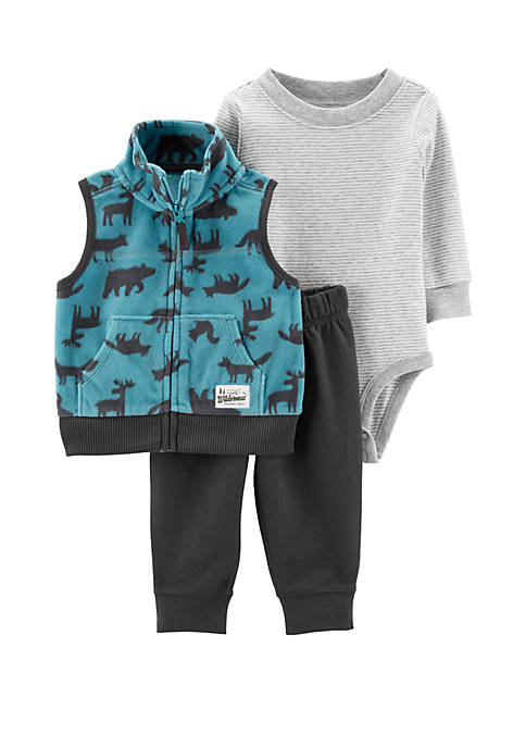 Carter's® Baby Boys 3 Piece Little Vest Set