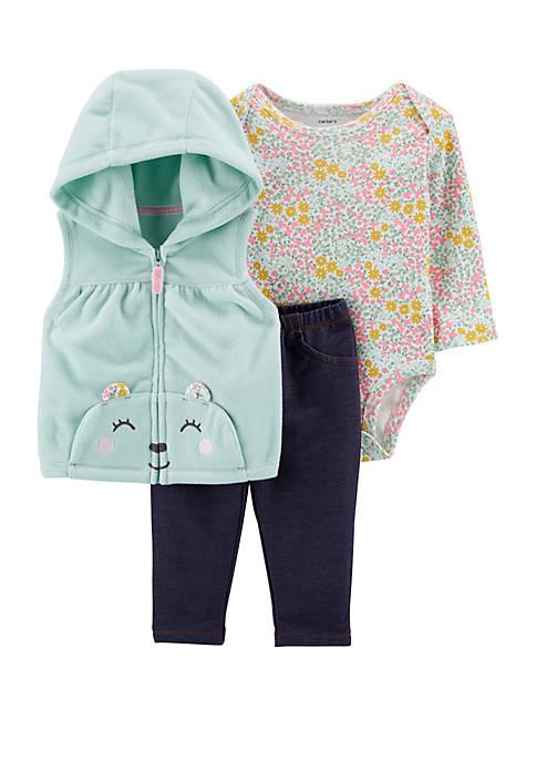 Carter's® Baby Girls 3 Piece Bear Little Vest