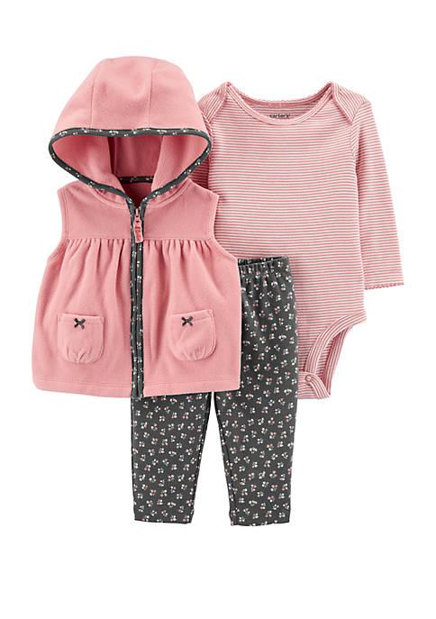 Carter's® Baby Girls 3 Piece Bow Little Vest