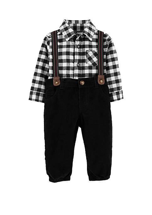 Carter's® Baby Boys 3 Piece Checkered Dress Me