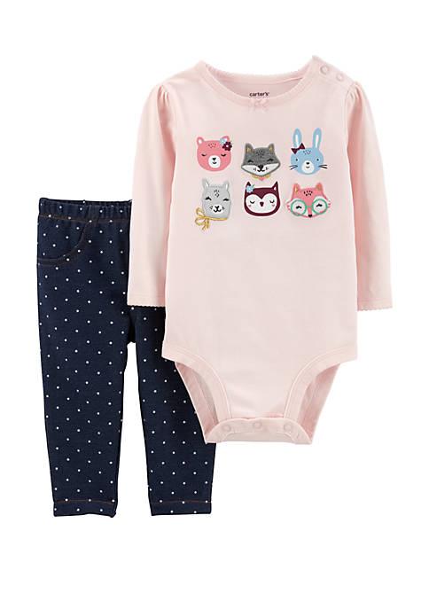 Carter's® Baby Girls 2-Piece Bodysuit and Pants Set