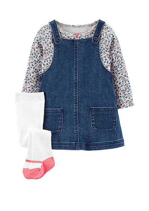 Carter's® Baby Girls 3 Piece Floral T-Shirt and