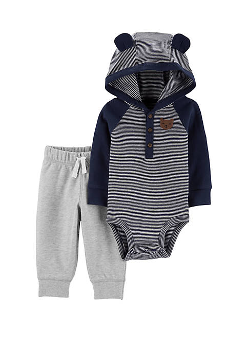 Carter's® Baby Boys 2 Piece Hooded Bodysuit and