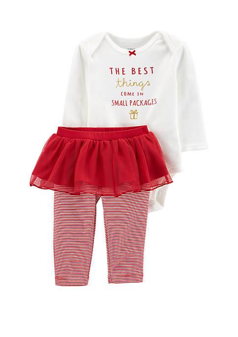 Carter's® Baby Girls Christmas Tutu Set