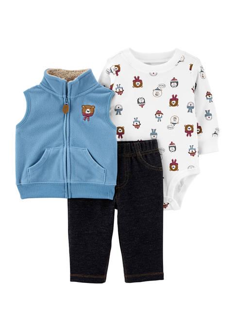 Carter's® Baby Boys 3 Piece Animal Little Jacket