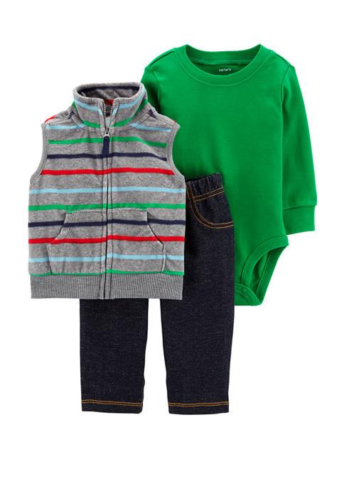 Carter's® Baby Boys 3 Piece Striped Little Vest