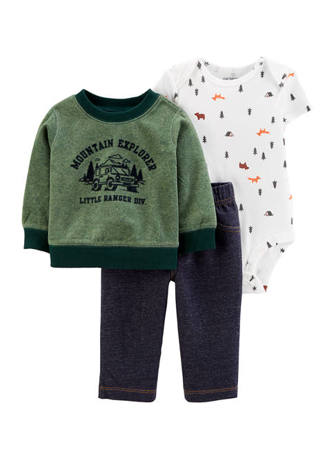 Carter's® Baby Boys 3 Piece Camping Little Pullover