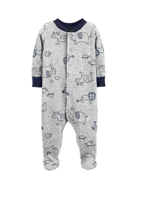 Carter's® Baby Boys Animals Snap Up Cotton Sleep