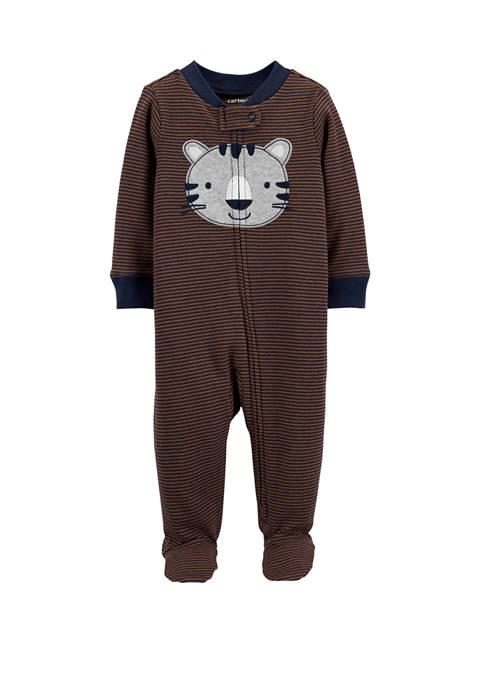 Carter's® Baby Boys Tiger 2 Way Zip Cotton