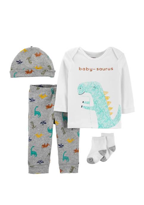 Carter's® Baby Boys 4 Piece Dinosaur Take Me