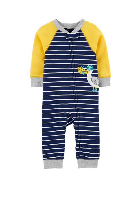 Carter's® Baby Boys Seagull 2 Way Zip Cotton