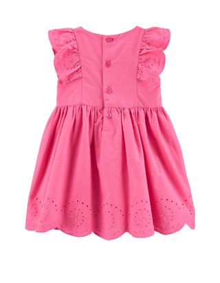 Blue /& White 24 Months Carters Girls Floral Romper with Lace Detailing