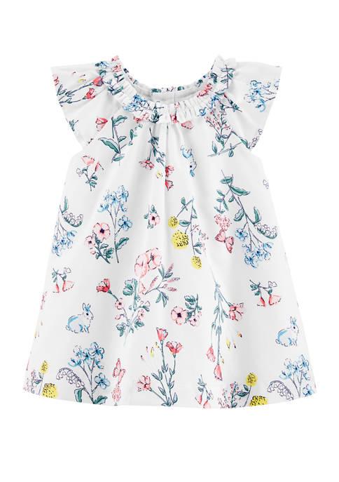 Carter's® Baby Girls Floral Sateen Dress