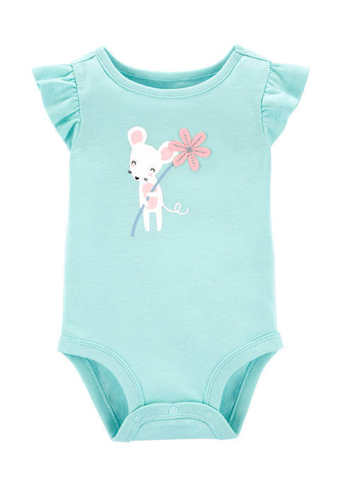Carter's® Baby Girls Mouse Collectible Bodysuit