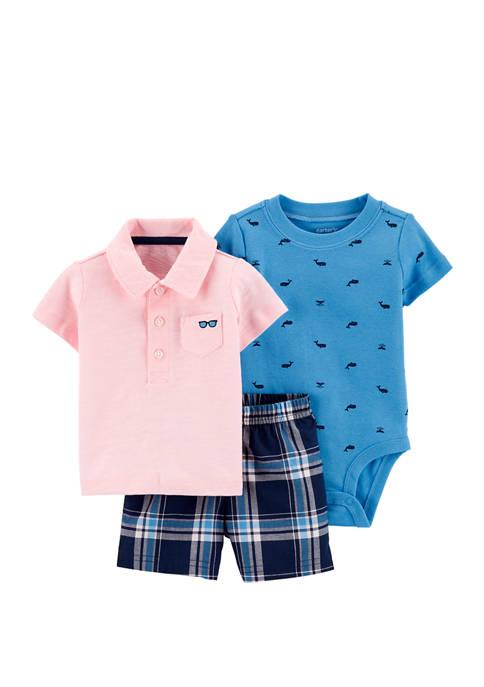 Carter's® Baby Boys 3 Piece Polo Little Shorts