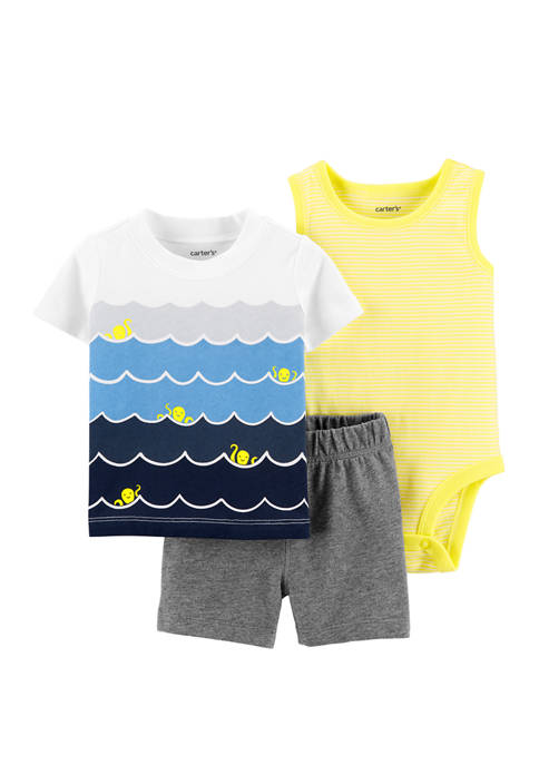 Carter's® Baby Boys 3 Piece Waves Little Shorts