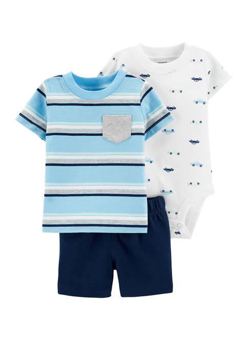Carter's® Baby Boys 3 Piece Car Little Short