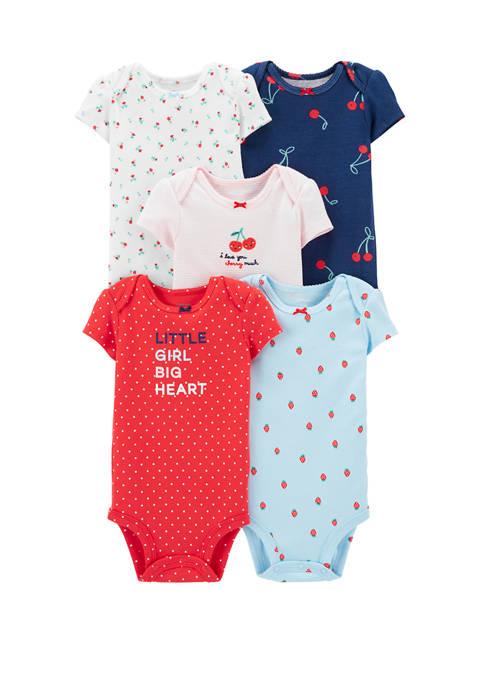 Carter's® Baby Girls Set of 5 Cherries Original