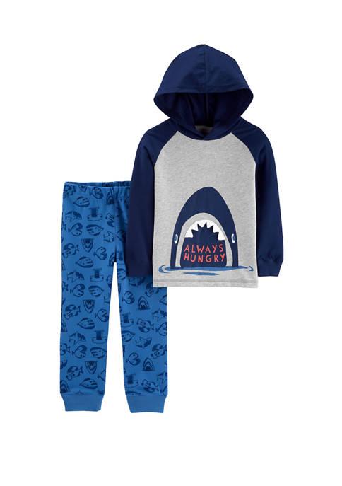 Carter's® Baby Boys 2 Piece Shark Hooded T-Shirt