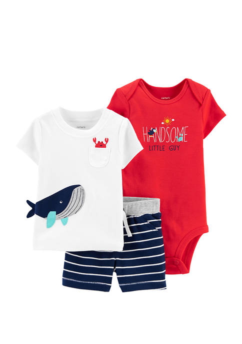Carter's® Baby Boys 3 Piece Whale Little Shorts