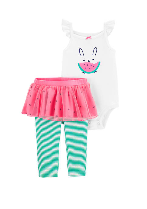 Carter's® Baby Girls 2 Piece Watermelon Bodysuit &